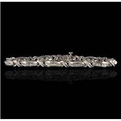 14KT White Gold 1.76ctw Diamond Bracelet A5132