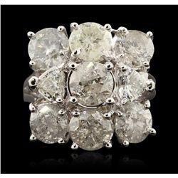 14KT White Gold 5.08ctw Diamond Ring A6610