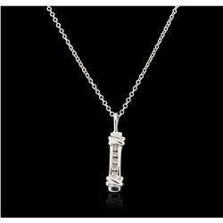 14KT White Gold 0.05ctw Diamond Pendant With Chain GB3617