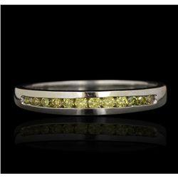 14KT White Gold 0.14ctw Yellow Diamond Ring GB4485