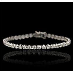 18KT White Gold 4.71ctw Diamond Tennis Bracelet A6750