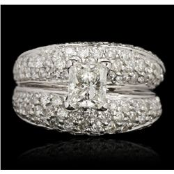 14KT White Gold 3.79ctw Diamond Wedding Ring GB4293