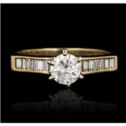 14KT Yellow Gold 0.99ctw Diamond Ring GB2253
