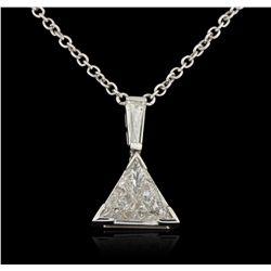 18KT White Gold 3.51ctw Diamond Necklace A5861