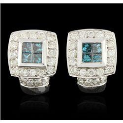 14KT White Gold 1.64ctw Diamond Earrings A6056