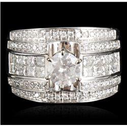 14KT White Gold 1.01ct I-1/H Diamond Ring RM1122