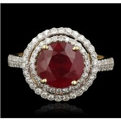 14KT Yellow Gold 4.58ct Ruby and Diamond Ring RM1906