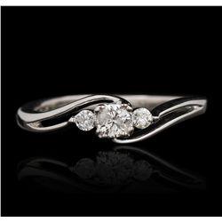 10KT White Gold 0.10ctw Diamond Ring GB2502