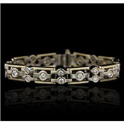 14KT White and Yellow Gold 2.00ctw Diamond Bracelet GB4723