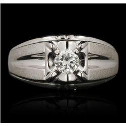 14KT White Gold 0.52ct Diamond Ring FAA58