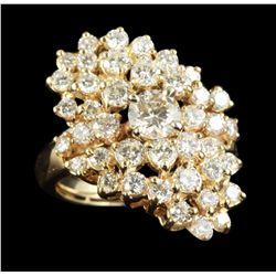 14KT Yellow Gold 3.20ctw Diamond Ring GB2044