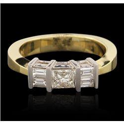14KT Two Tone Gold 0.73ctw Diamond Ring GB4458