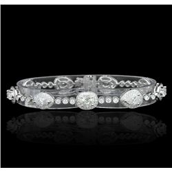 18KT White Gold 6.44ctw Diamond Bracelet FJM3051