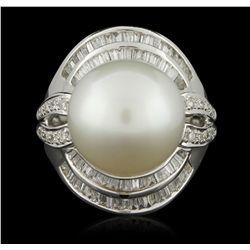 18KT White Gold 1.00ctw Diamond Ring A6069