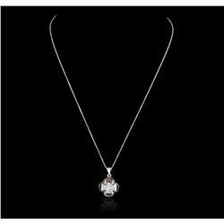 18KT White Gold 1.01ctw Diamond Pendant GB2427