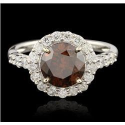 14KT White Gold 2.96ctw Diamond Ring RM1594