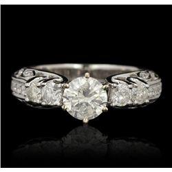 14KT White Gold 1.72ctw Diamond Ring RM1557