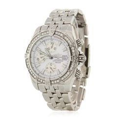 Gents Breitling Stainless Steel Chronomat Evolution Diamond Wristwatch GB4093