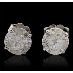 14KT White Gold 2.23ctw Diamond Stud Earrings GB4831
