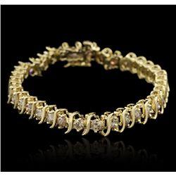 10KT Yellow Gold 3.50ctw Diamond Bracelet GB4465