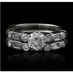 14KT White Gold 1.44ctw Diamond Ring GB2378