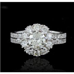 14KT White Gold 1.01ct I-1/J Diamond Ring A5666
