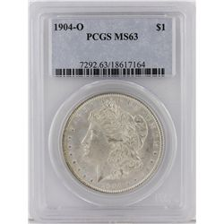 1904-O Morgan Silver Dollar PCGS Graded MS63 SCE1098