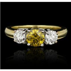 18KT Yellow Gold 1.17ctw Diamond Ring GB3369