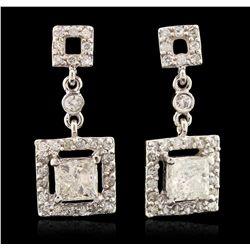 14KT White Gold 1.45ctw Diamond Earrings A6619