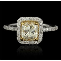 14KT White Gold 1.53ct SI-1/U-V GIA Cert Diamond Ring A5311