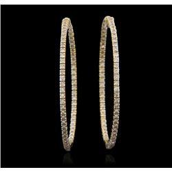 14KT White Gold 2.00ctw Diamond Hoop Earrings GB4759
