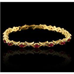 10KT Yellow Gold 0.10ctw Diamond Bracelet GB4503