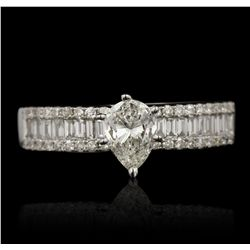 18KT White Gold 0.95ctw EGL USA Certified Diamond Ring RM1816
