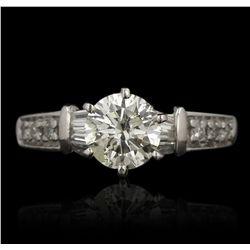 Platinum 1.02ct I-1/K Diamond Ring GB3518
