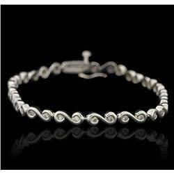 14KT White Gold 1.00ctw Diamond Tennis Bracelet GB3417