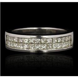 14KT White Gold 1.07ctw Diamond Ring LAJB74