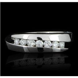 14KT White Gold 0.30ctw Diamond Ring GB2451