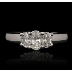 14KT White Gold 1.12ctw Diamond Ring GB4713