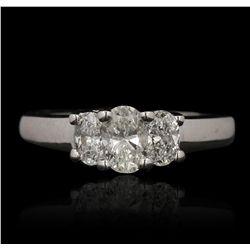 14KT White Gold 1.12ctw Diamond Ring GB4713