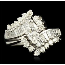 14KT White Gold 1.50ctw Diamond Ring GB1888