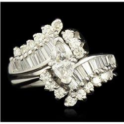 14KT White Gold 1.50ctw Diamond Ring GB1888