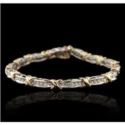10KT Two-Tone Gold 2.10ctw Diamond Bracelet GB4507