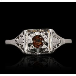14KT White Gold 0.30ctw Garnet Ring GB4652
