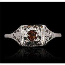 14KT White Gold 0.30ctw Garnet Ring GB4652