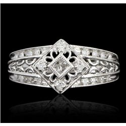 10KT White Gold 1.00ctw Diamond Ring GB2538