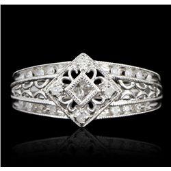 10KT White Gold 1.00ctw Diamond Ring GB2538