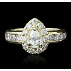14KT Yellow Gold 1.24ctw Diamond Ring GB2393