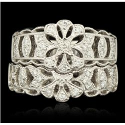 Platinum 0.19ctw Diamond Ring GB1901