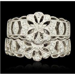 Platinum 0.19ctw Diamond Ring GB1901