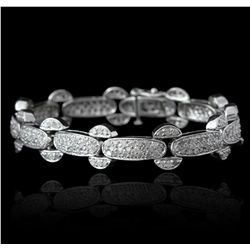 14KT White Gold 4.00ctw Diamond Tennis Bracelet GB2405